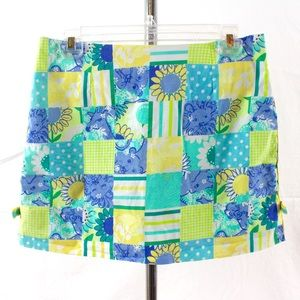 Lilly Pulitzer Zoo Print Trophy Patch Skirt Sz 4